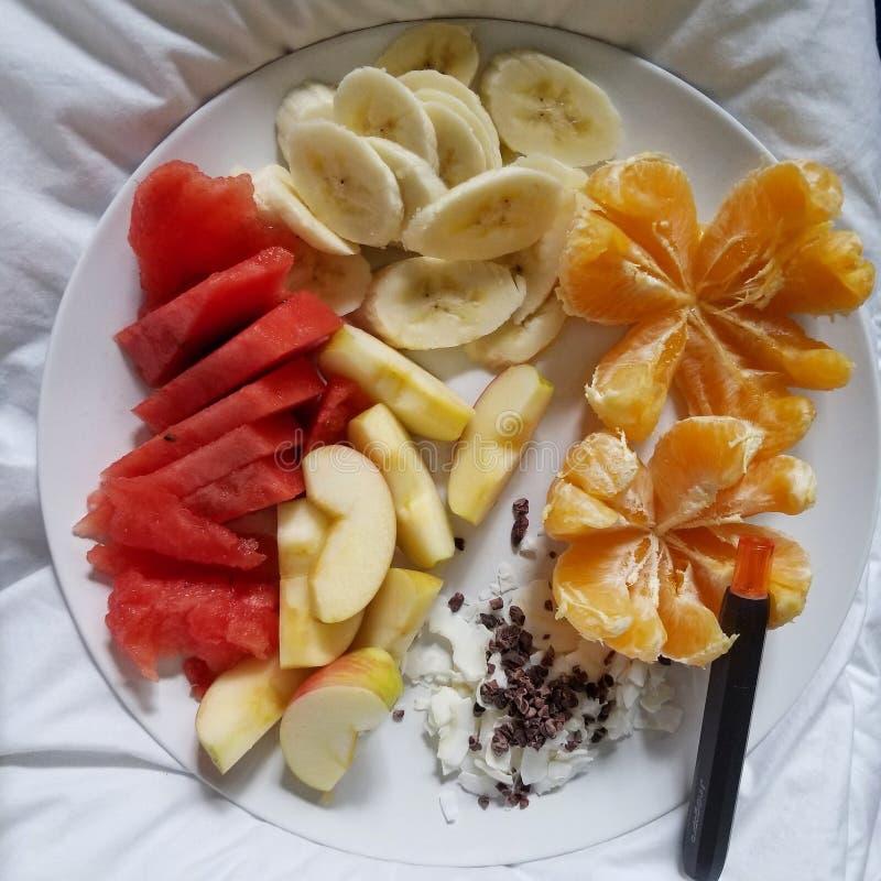 Raw fruit diet plus CBD equals health stock images