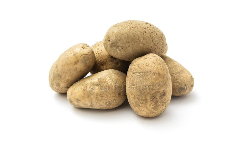 Raw harvest potatoes stock photography