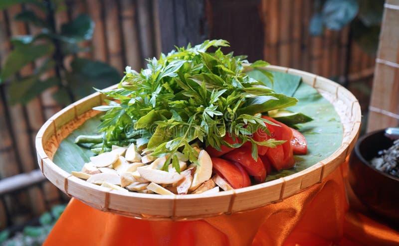 Raw Healthy Vegetables Platter Ulam-ulaman royalty free stock photography