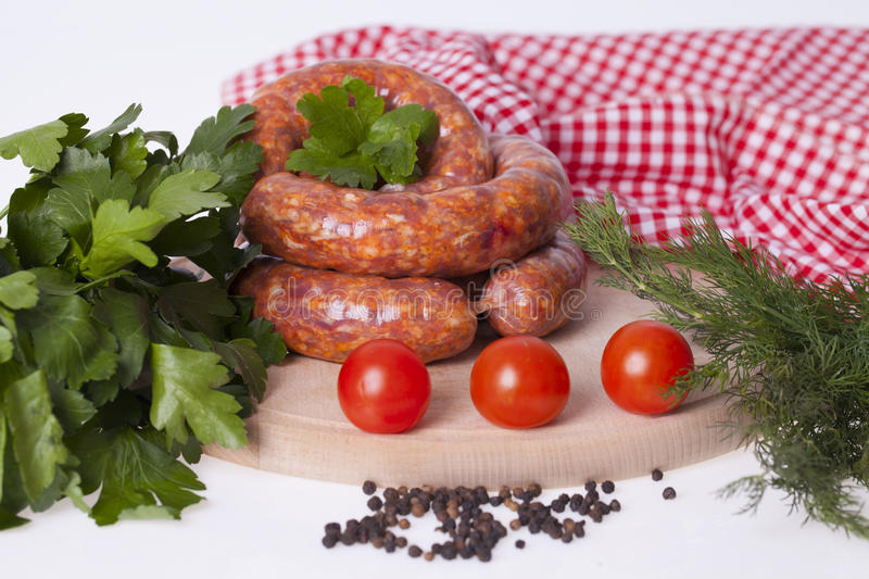 Download Raw Homemade Sausages Stock Photo - Image: 83717787