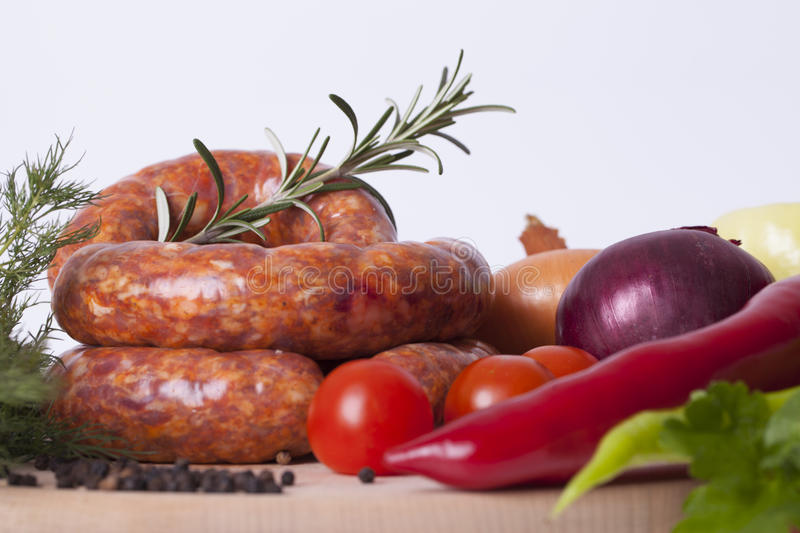Download Raw homemade sausages stock image. Image of pork, delicious - 83717995