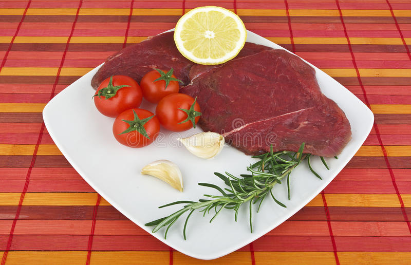 Raw horse meat stock photography