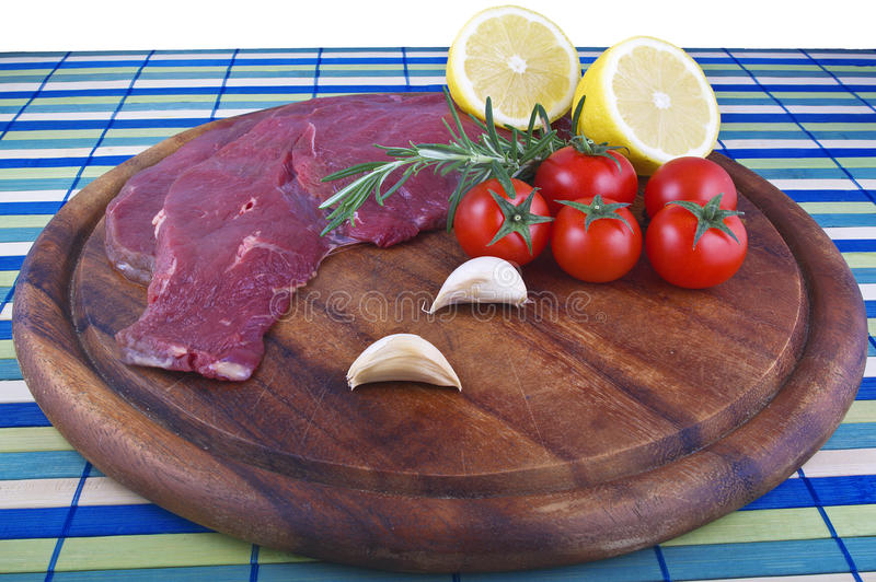 Raw horse meat royalty free stock photos