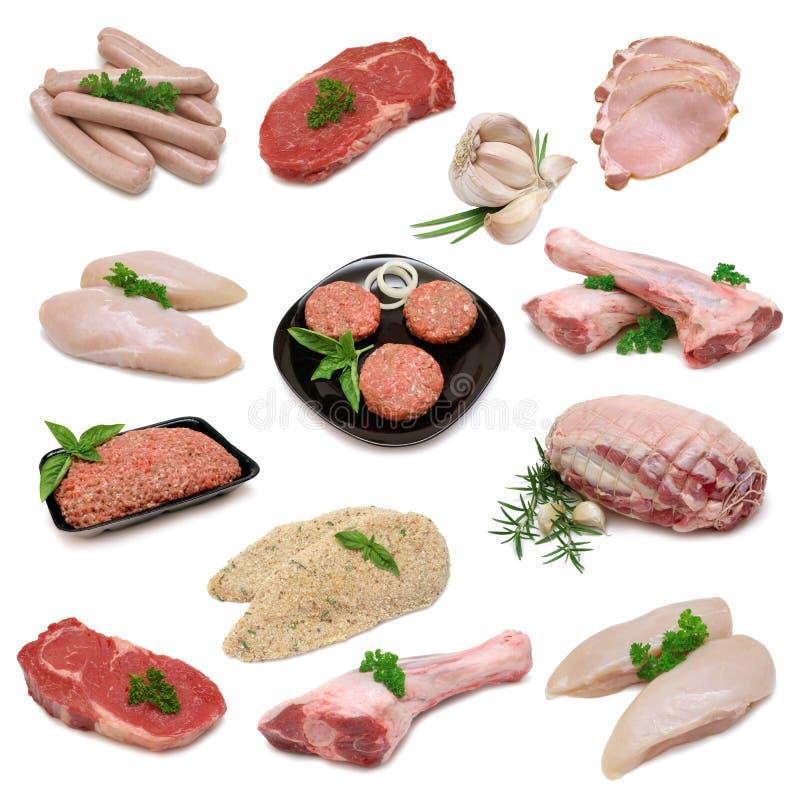 Raw Meat Product Sampler stock photos