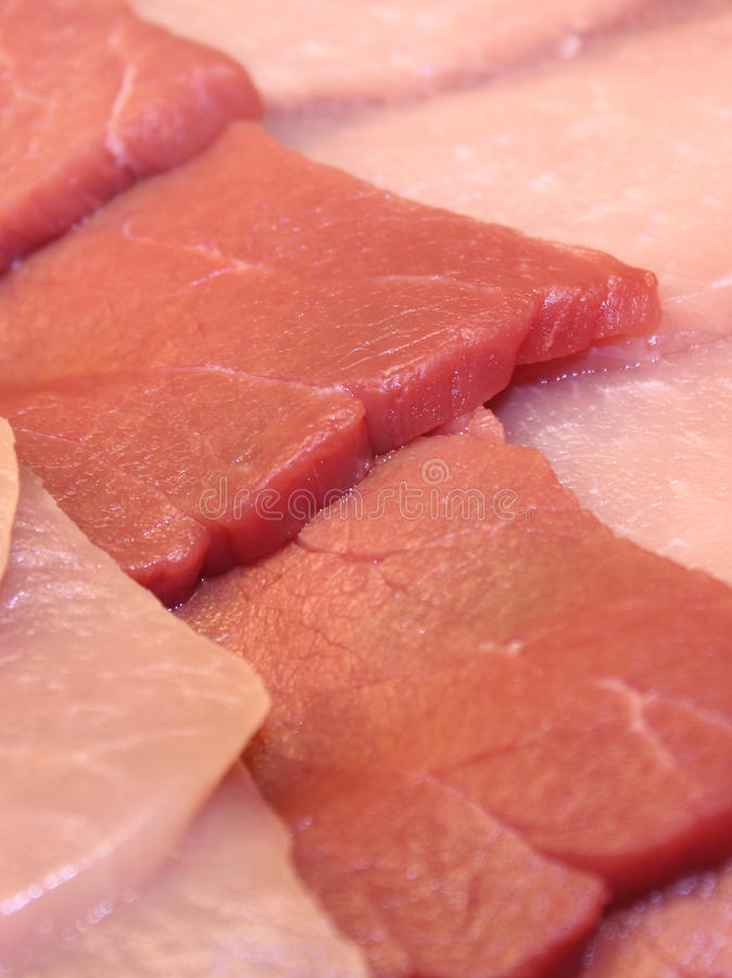 Raw Meat Slices Royalty Free Stock Image