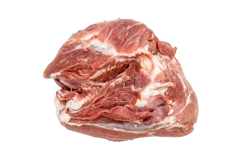 Raw meat on white background. royalty free stock images