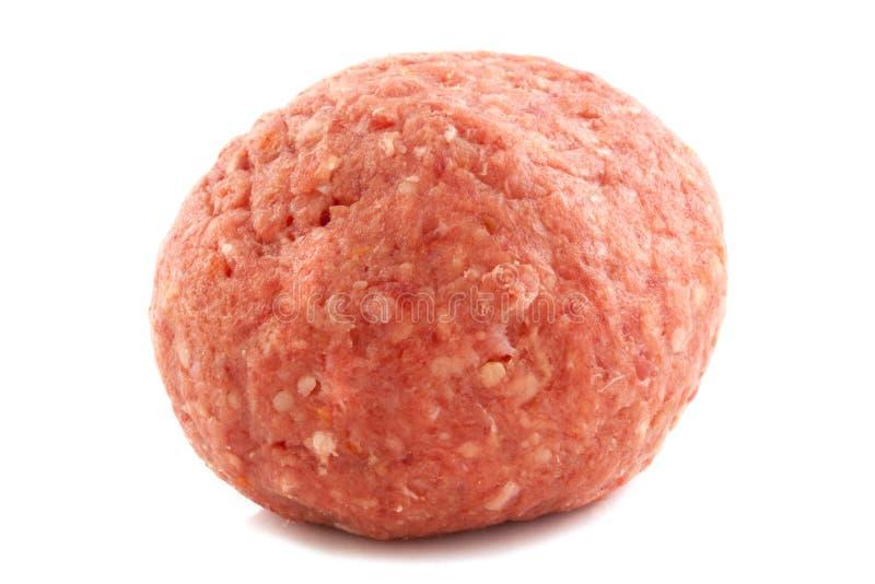 Raw meatball royalty free stock photos