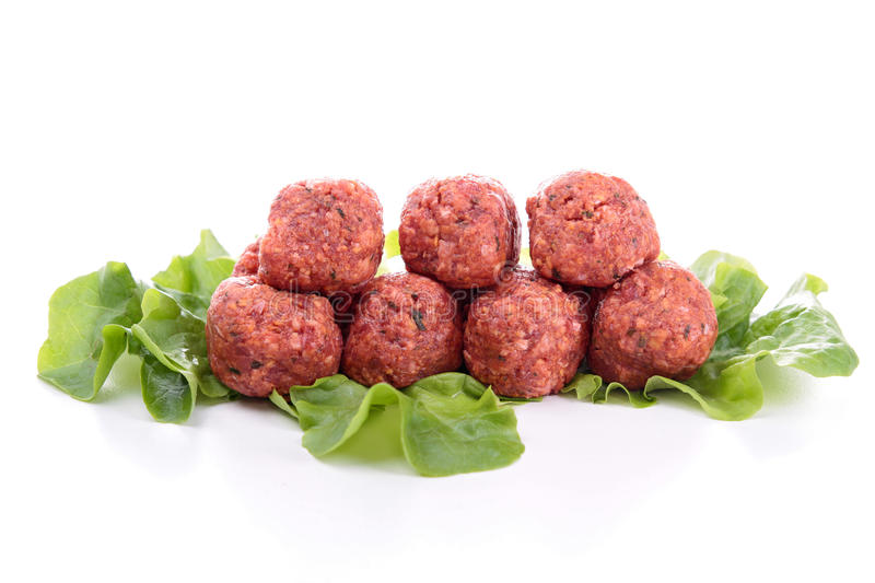 Raw meatball stock photography