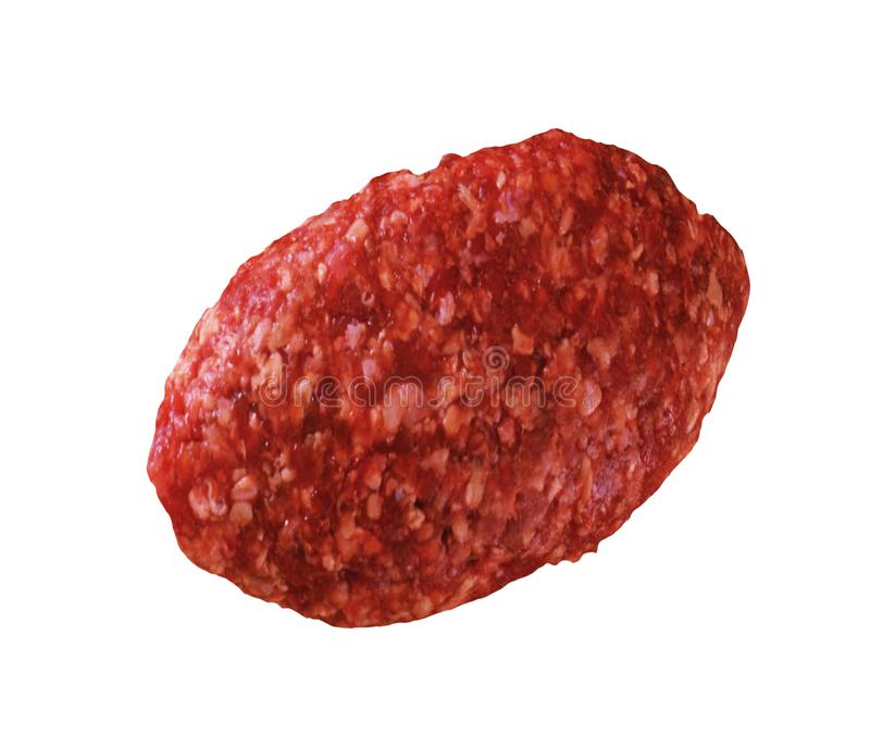 Raw meatball isolated royalty free stock photography