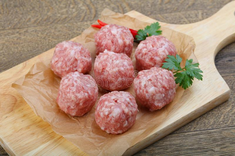 Raw meatball stock images