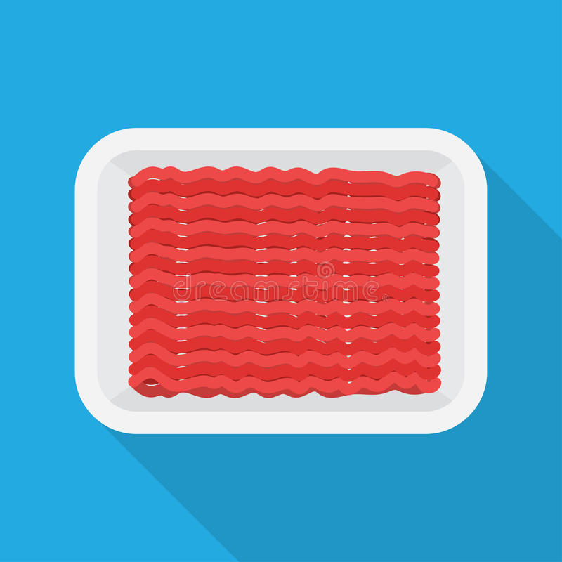 Raw Minced meat royalty free illustration
