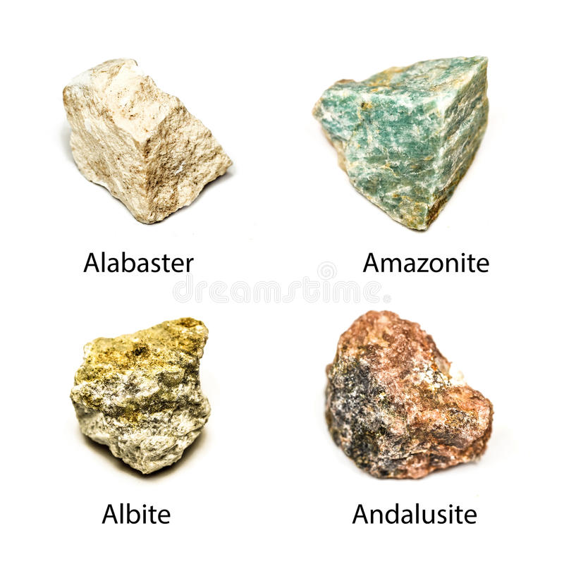 Raw minerals royalty free stock image