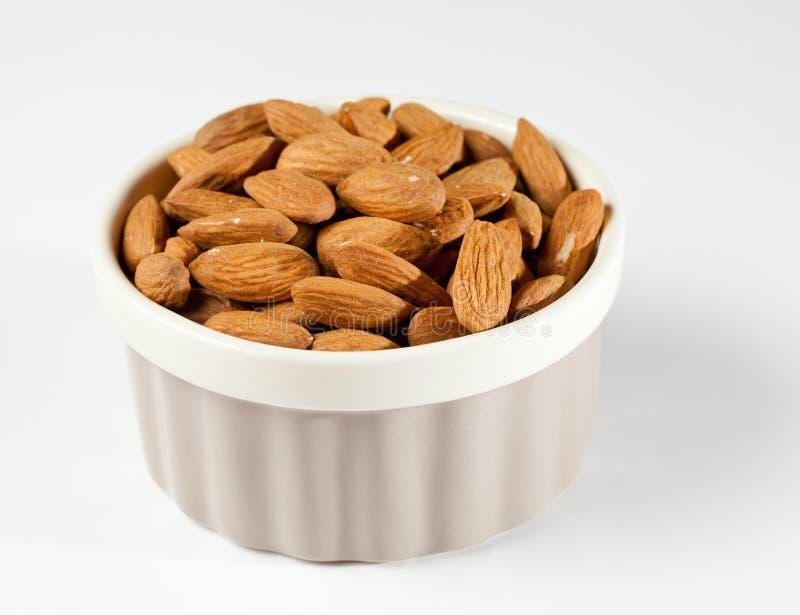 Download Raw Organic Almonds In Bowl Stock Image - Image: 22773769