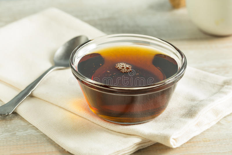 Raw Organic Dark Agave Syrup stock photography