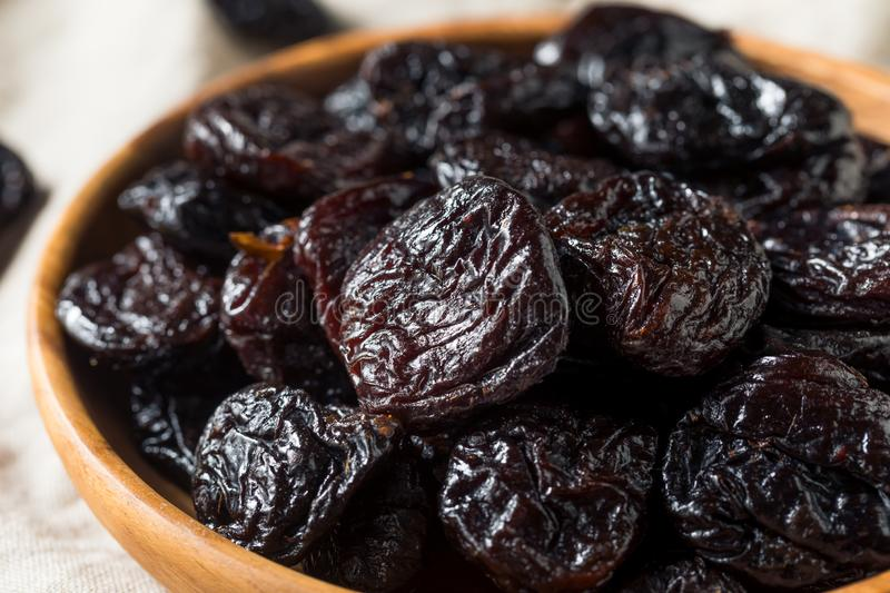Raw Organic Dry Prunes stock photography