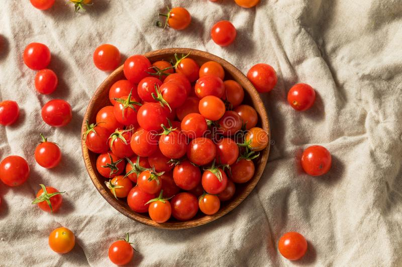 Raw Organic Heirloom Cherry Tomatoes royalty free stock photography