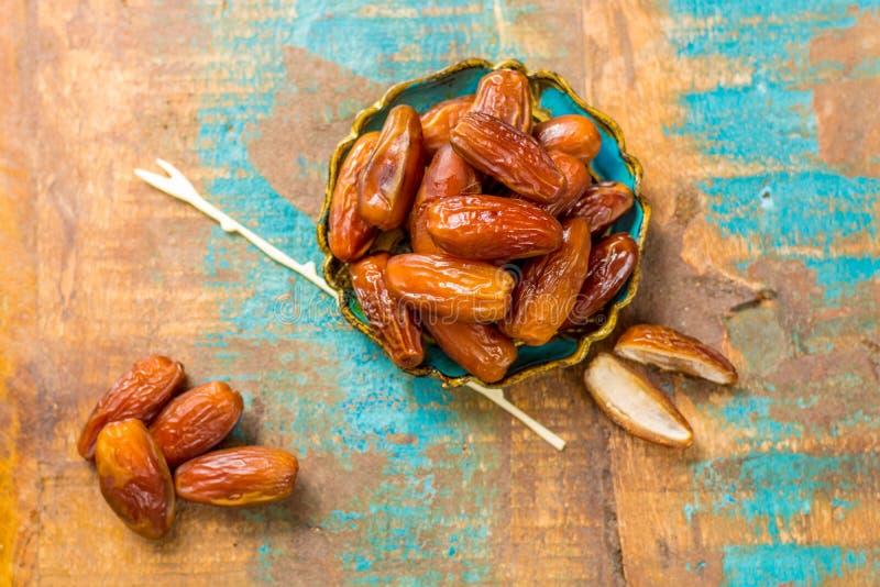Raw Organic Medjool Dates Ready to Eat. Raw Organic Medjool Dates with pits Ready to Eat royalty free stock image