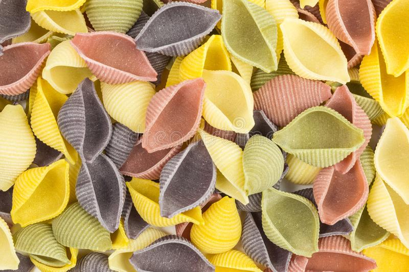 Raw pasta background royalty free stock photo