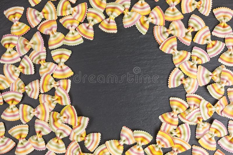 Raw pasta farfalle royalty free stock image