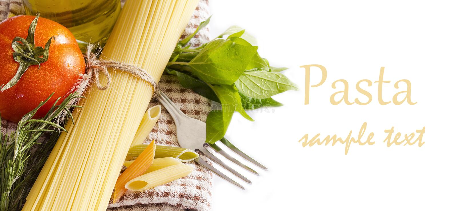 Download Raw pasta and ingredients stock photo. Image of macro - 22260772