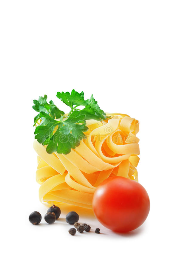 Raw Pasta Nest Stock Images
