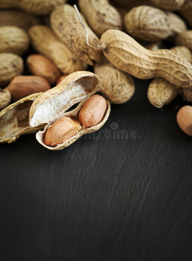 Raw peanuts. stock image