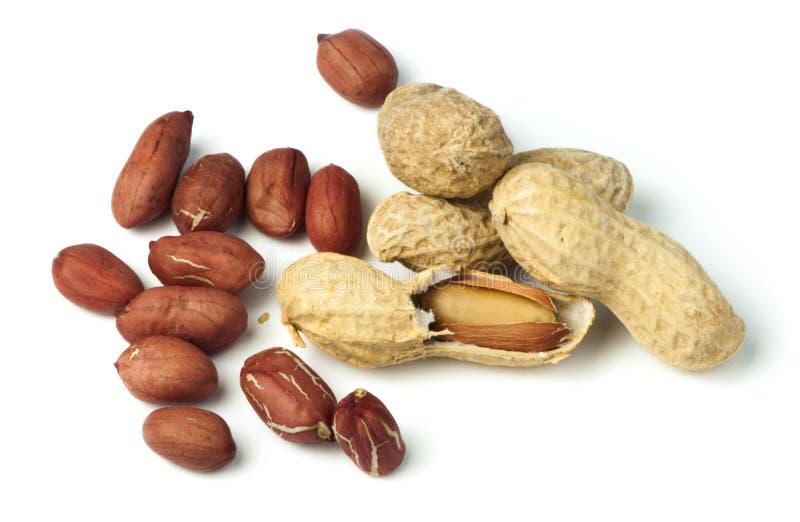 Raw peanuts in shells and shelled peanuts