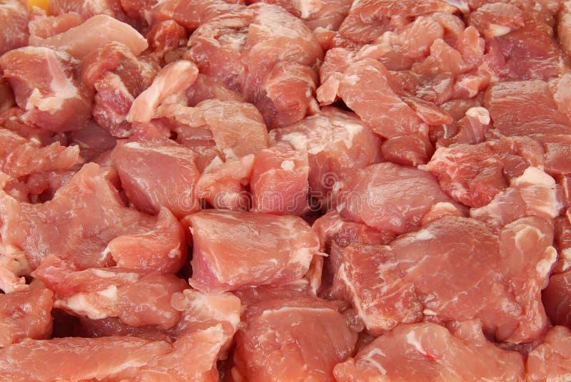 Raw pork. Close up shot of diced raw pork stock images