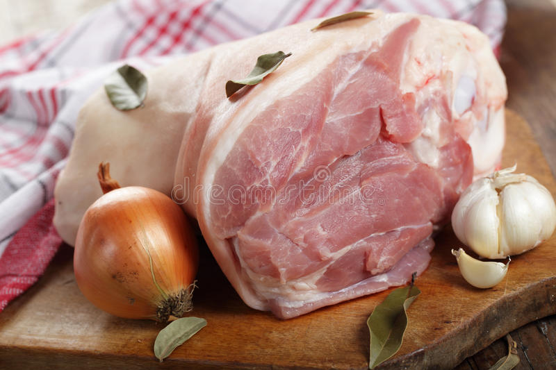 Raw pork knuckle royalty free stock images