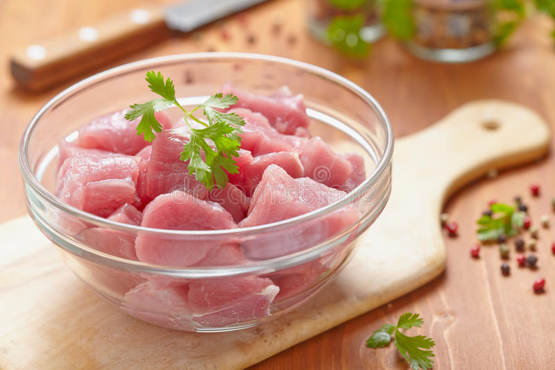 Raw pork meat stock photos