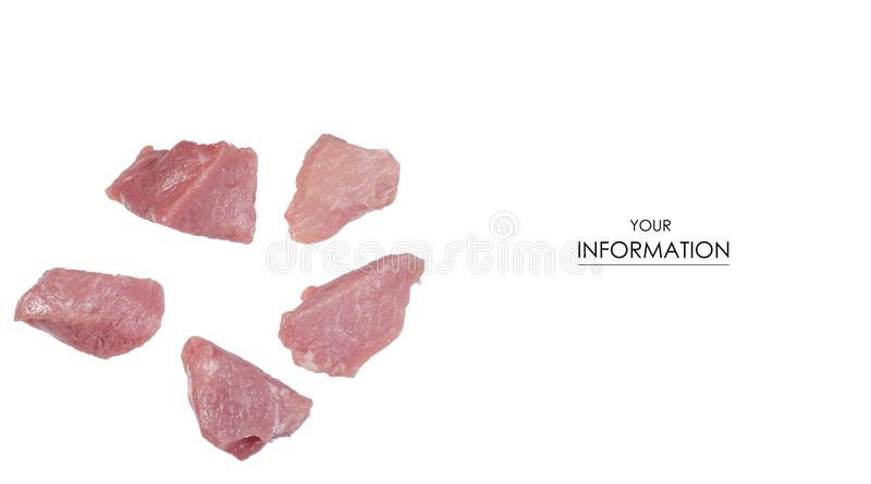 Raw pork meat pieces pattern stock photos