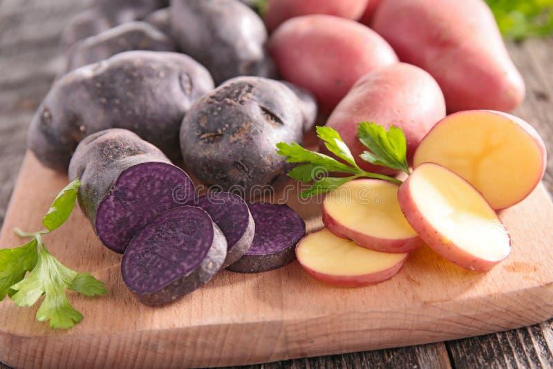 Raw potatoes royalty free stock photos