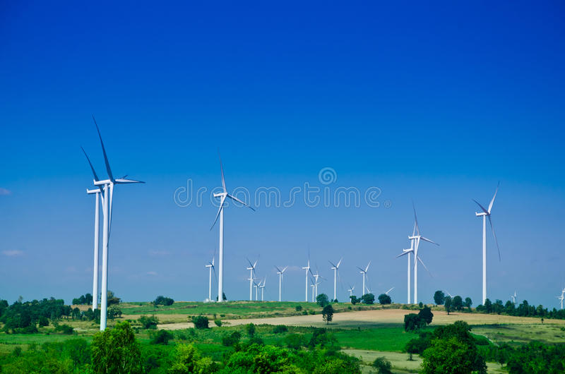 Raw power energy.Wind turbines to produce electricity. The power of choice, Raw energy. clean energy stock photography