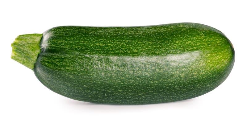 Raw ripe zucchini isolated on white background royalty free stock photos