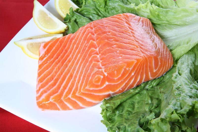 Raw Salmon royalty free stock image