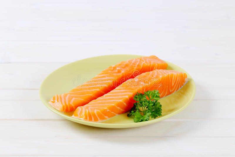 Download Raw Salmon Fillets Stock Photo - Image: 83707210