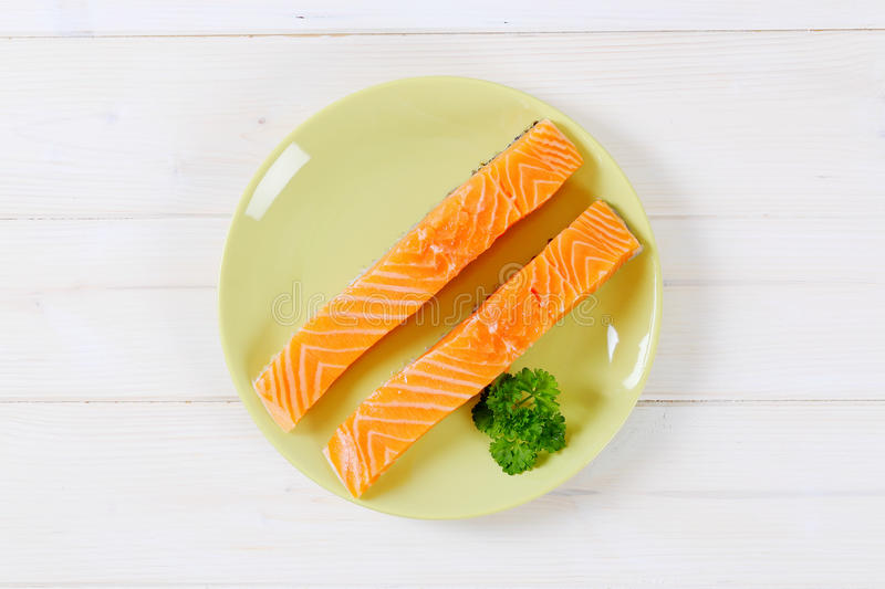 Download Raw Salmon Fillets Stock Photo - Image: 83708215