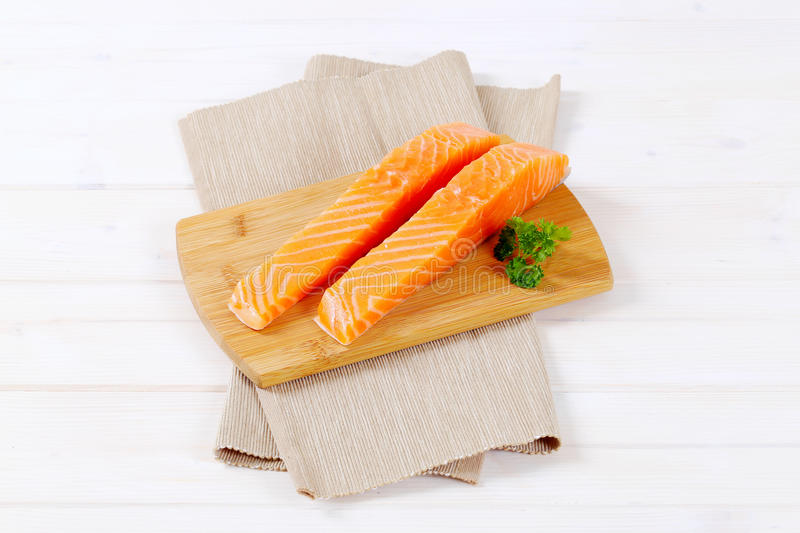 Download Raw salmon fillets stock photo. Image of shot, folded - 83706814