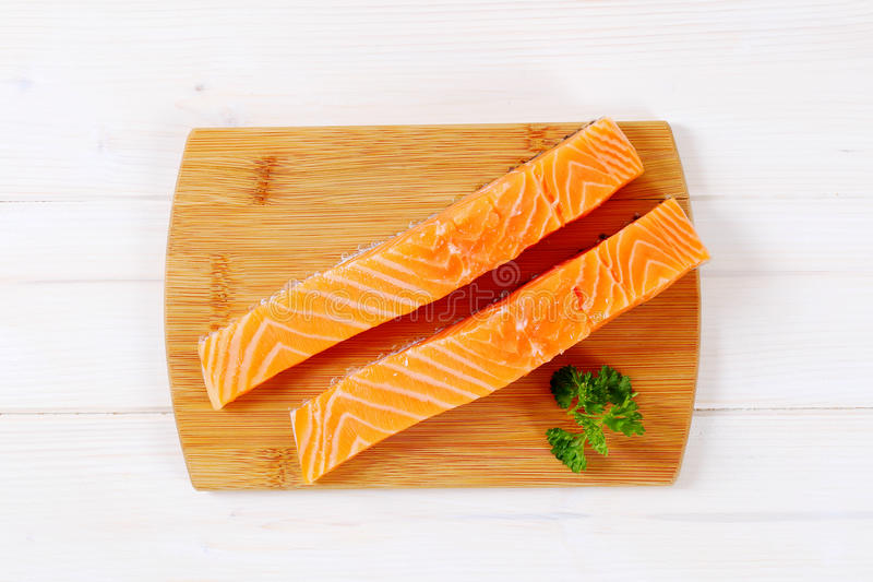 Download Raw Salmon Fillets Stock Photo - Image: 83707256