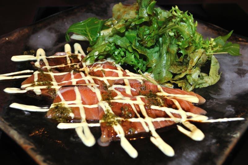 Download Raw salmon salad stock image. Image of mayonnaise, healthy - 18479539