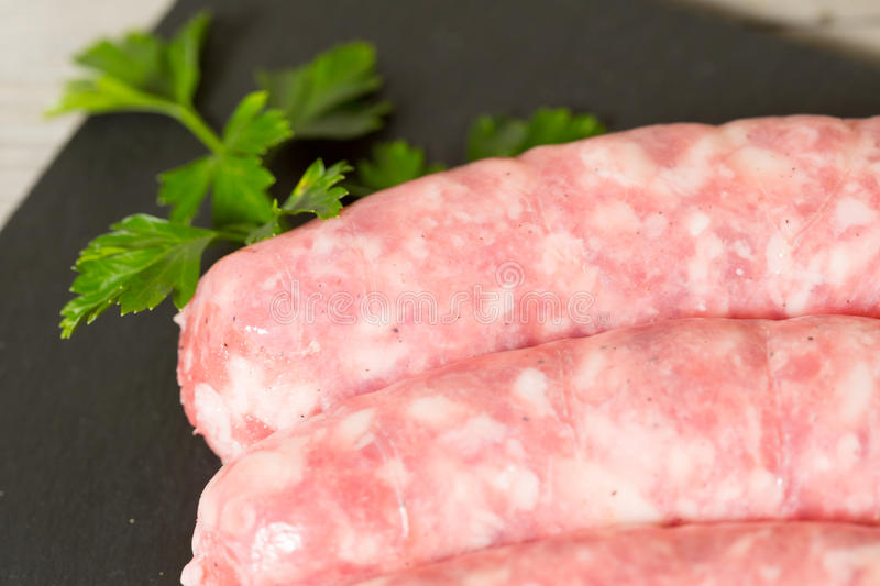Download Raw sausage stock image. Image of meat, sauce, herbs - 37165977