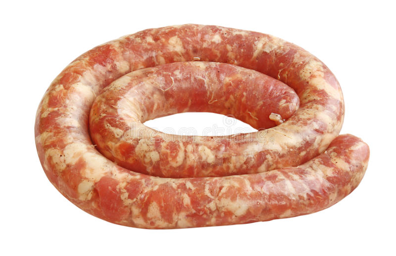 Download Raw Sausage From The Pork Stuffing Stock Photo - Image: 27945994