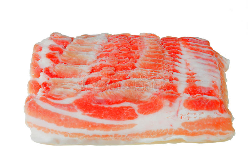 Raw slice of pork meat royalty free stock photo