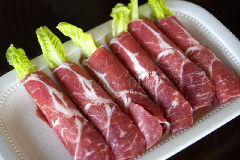 Download Raw Sliced Lamb Rolls Royalty Free Stock Images - Image: 9601179