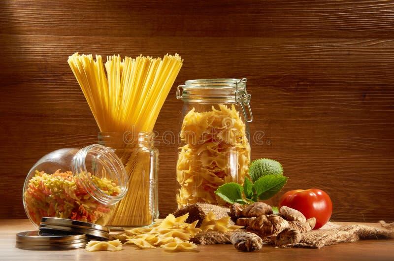 Raw Spaghetti Royalty Free Stock Photography
