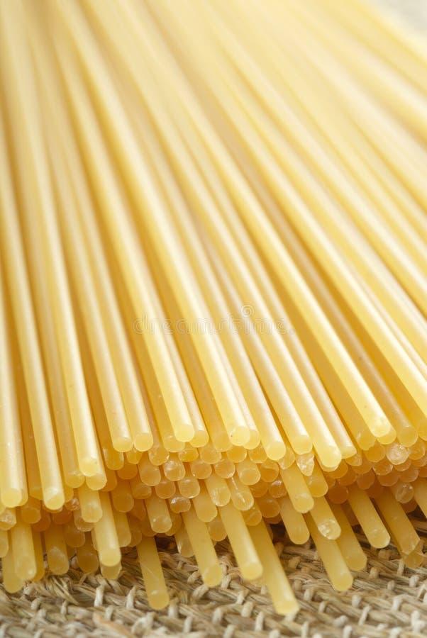 Raw Spaghetti Pasta Stock Photos