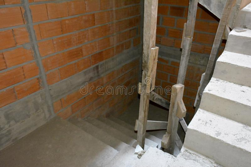 Raw Staircase structure stock photos
