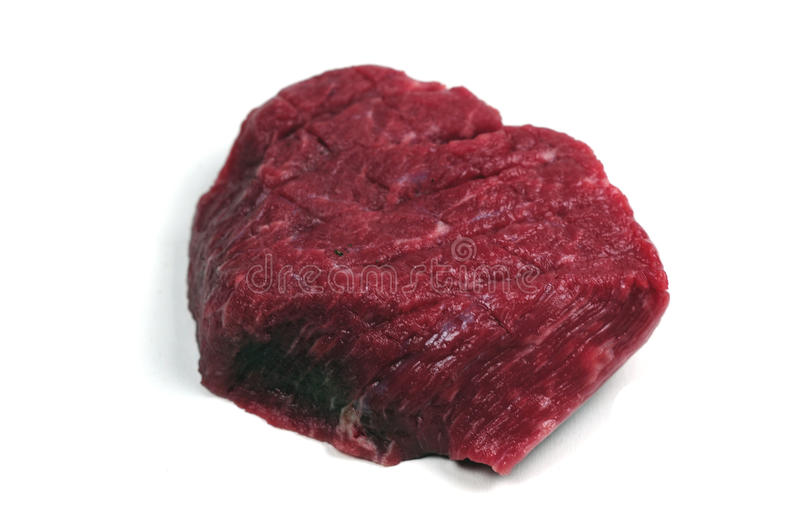 Raw steak. A delicious piece of beef royalty free stock images