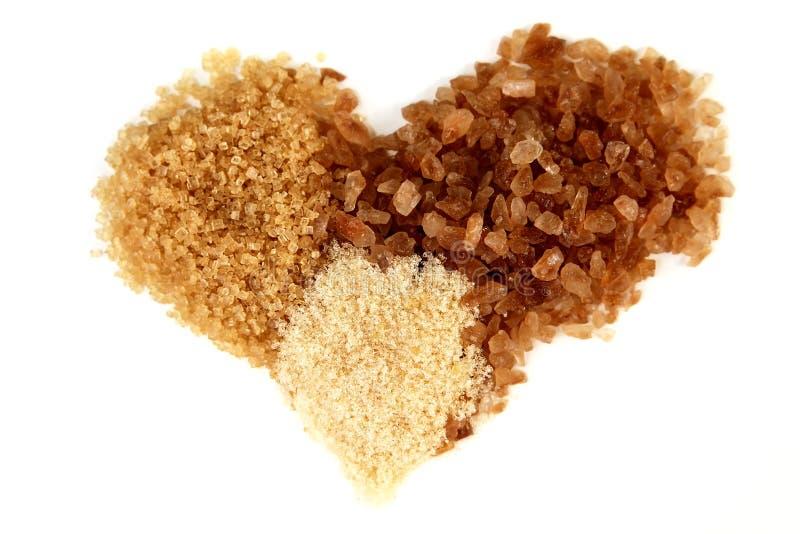Brown sugar heart stock photography