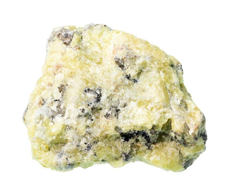 Raw sulphur sulfur ore cutout on white. Background stock image